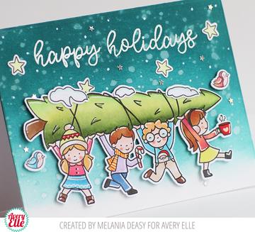 Christmas Kids Clear Stamps & Dies