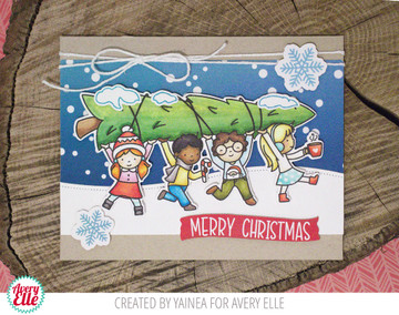 Christmas Kids Clear Stamps & Dies