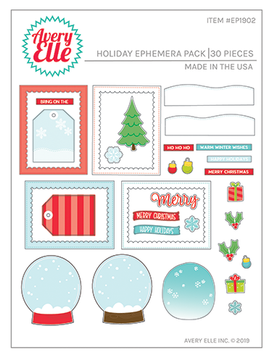 Avery Elle Holiday Ephemera Pack