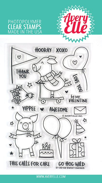 Avery Elle Sweet Swines Clear Stamps