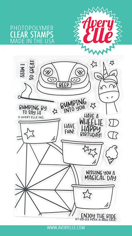 Avery Elle Peek-A-Boo Fair Clear Stamps