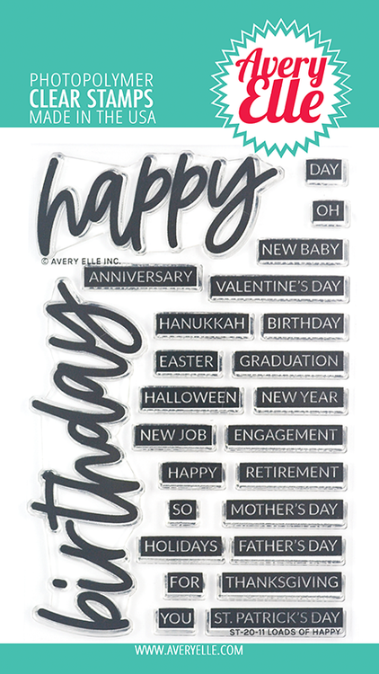 Avery Elle Loads Of Happy Clear Stamps