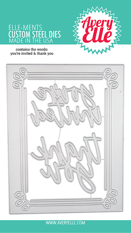 Avery Elle Invitation Frame Dies