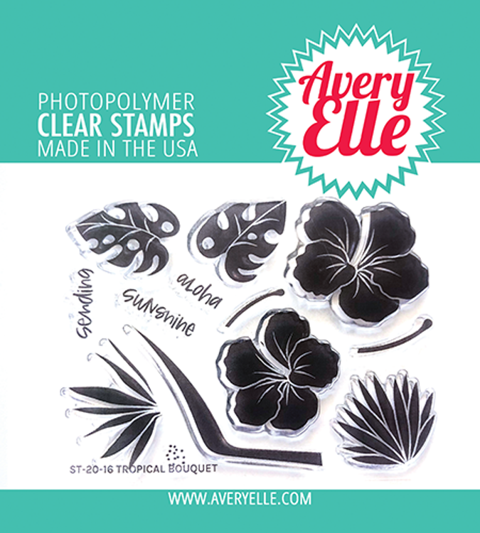Avery Elle Tropical Bouquet Clear Stamps