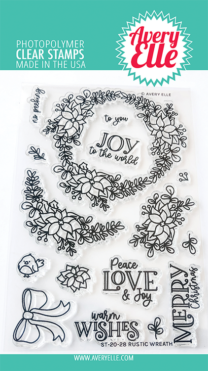 Avery Elle Rustic Wreath Clear Stamps