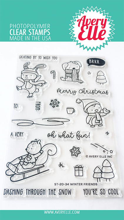 Avery Elle Winter Friends Clear Stamps