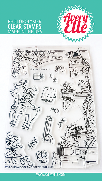 Avery Elle Woodland Scene Builder Clear Stamps