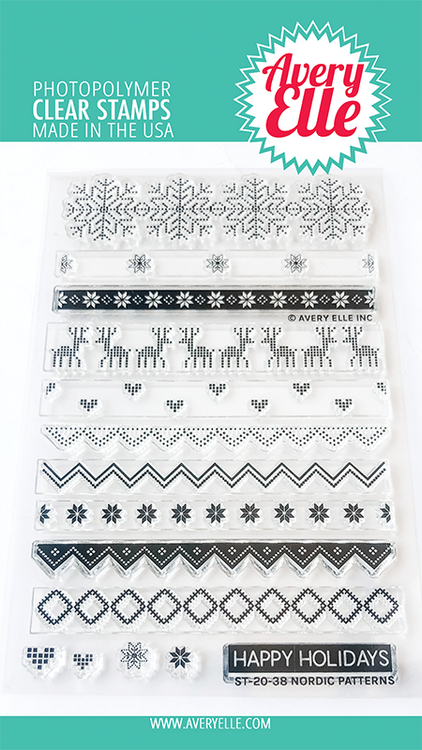 Avery Elle Nordic Patterns Clear Stamps