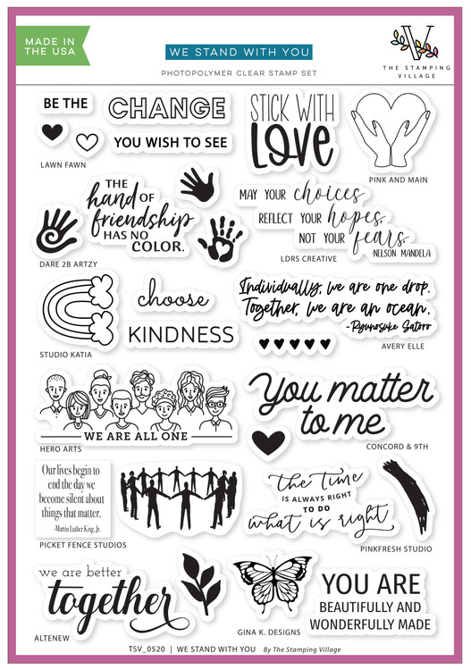 The Stamping Village We Stand With You Stamp Set