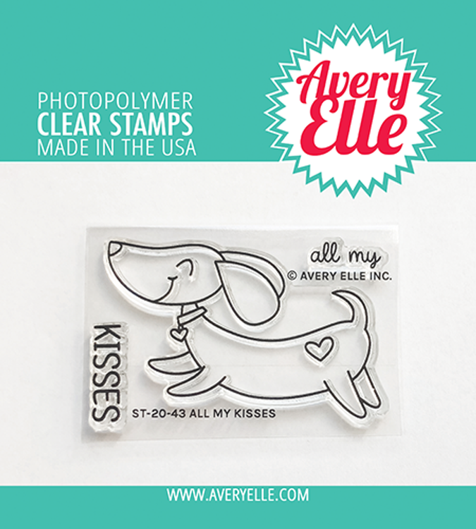 Avery Elle All My Kisses Clear Stamps