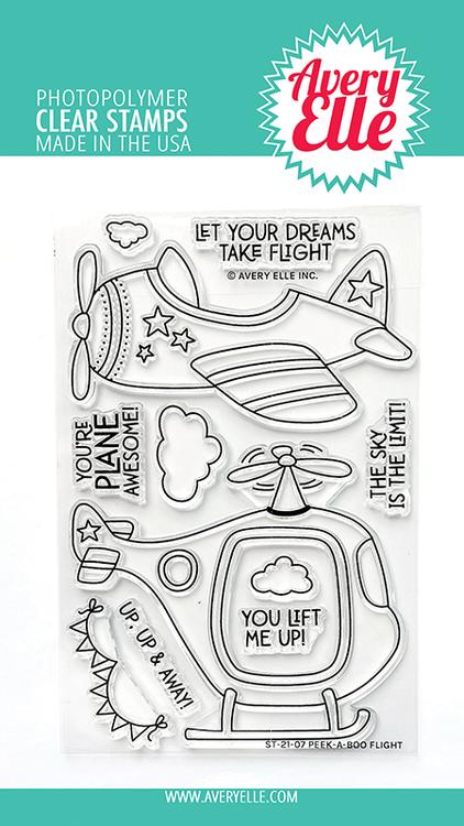 Avery Elle Peek-A-Boo Flight Clear Stamps