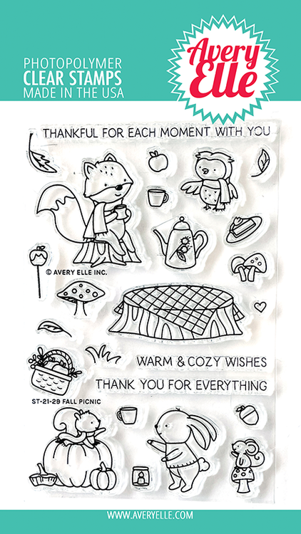 Avery Elle Fall Picnic Clear Stamps