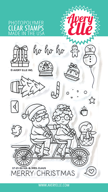 Avery Elle Mr. & Mrs. Claus Clear Stamps