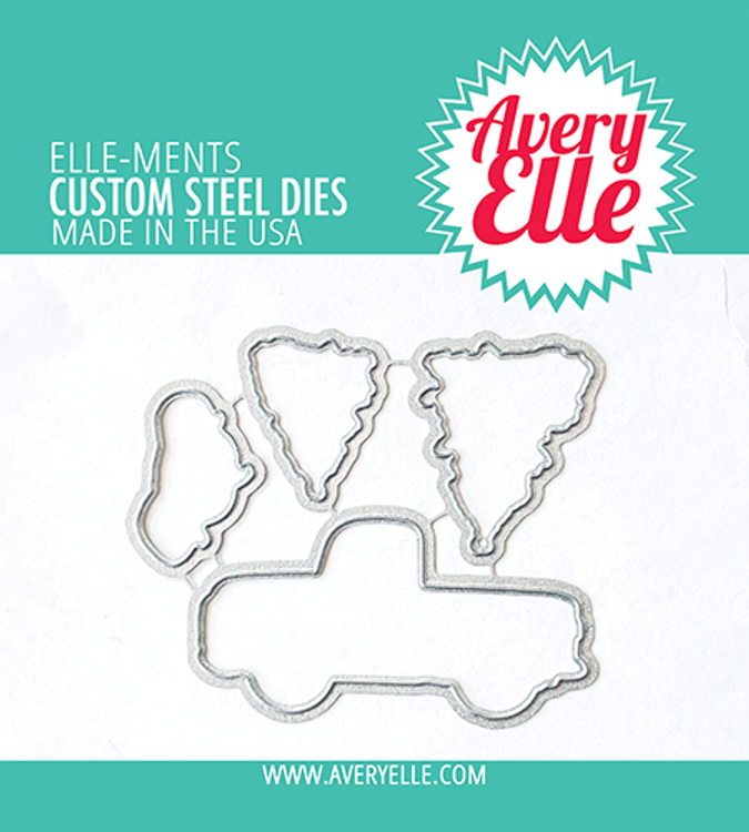 Avery Elle Layered Holiday Truck Dies