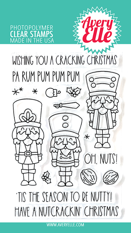 Avery Elle Nutcrackers Clear Stamps
