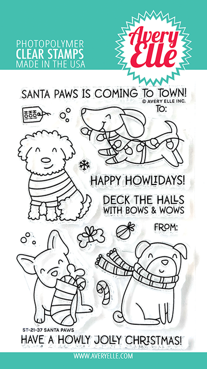 Avery Elle Santa Paws Clear Stamps