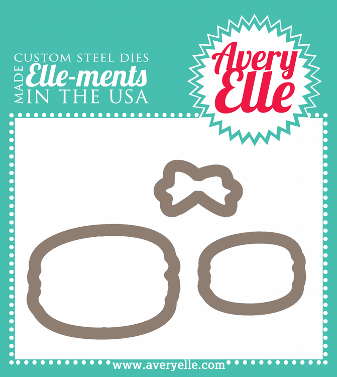 Our Bonjour ELLE-ments Custom Steel Dies are exclusive to Avery Elle.  These premium steel dies coordinate with our Bonjour clear photopolymer stamp set and are proudly made in the USA.