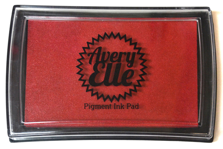 Our Cherry Pigment Ink Pad is a gorgeous shade of red and matches our Cherry premium card stock.  Our water-based premium pigment inks offer fantastic coverage with our clear stamps and are fast drying, embossable, acid free and non-toxic.