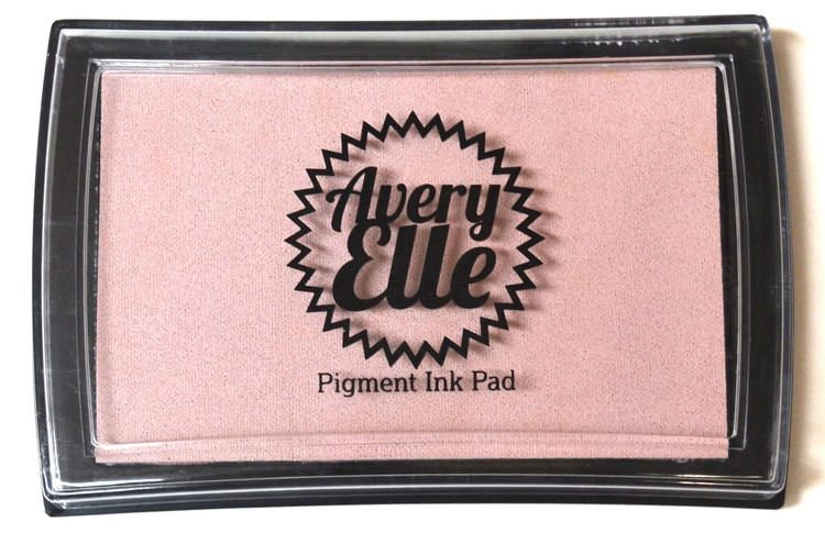 Our Pixie Pigment Ink Pad is a gorgeous shade of light pink and matches our Pixie premium card stock.  Our water-based premium pigment inks offer fantastic coverage with our clear stamps and are fast drying, embossable, acid free and non-toxic. Made in Taiwan