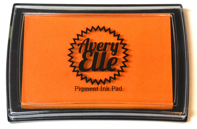 Our Fizz Pigment Ink Pad is a gorgeous shade of orange and matches our Fizz premium card stock.  Our water-based premium pigment inks offer fantastic coverage with our clear stamps and are fast drying, embossable, acid free and non-toxic. Made in Taiwan