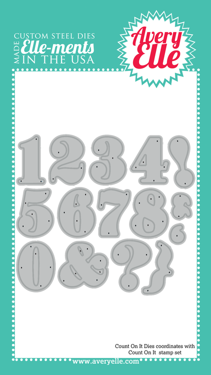 Our Count On It Elle-ments dies coordinate with our Count On It Clear Stamp Set.