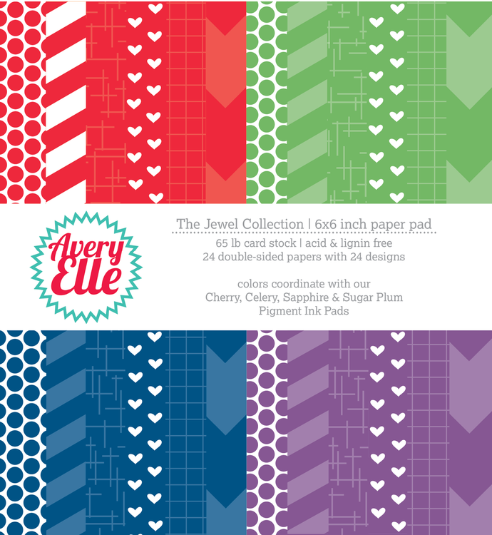 The Jewel Collection 6 x 6 in patterned paper pad.