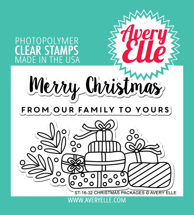 Avery Elle Christmas Packages Clear Stamps