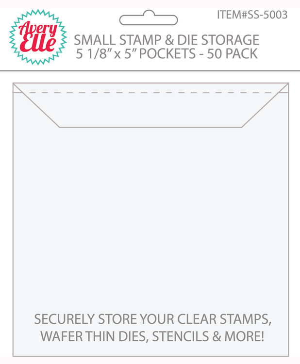 Small Stamp and Craft Die Storage Pockets
