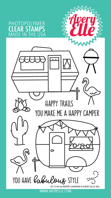 Avery Elle Glamper Campers Clear Stamps