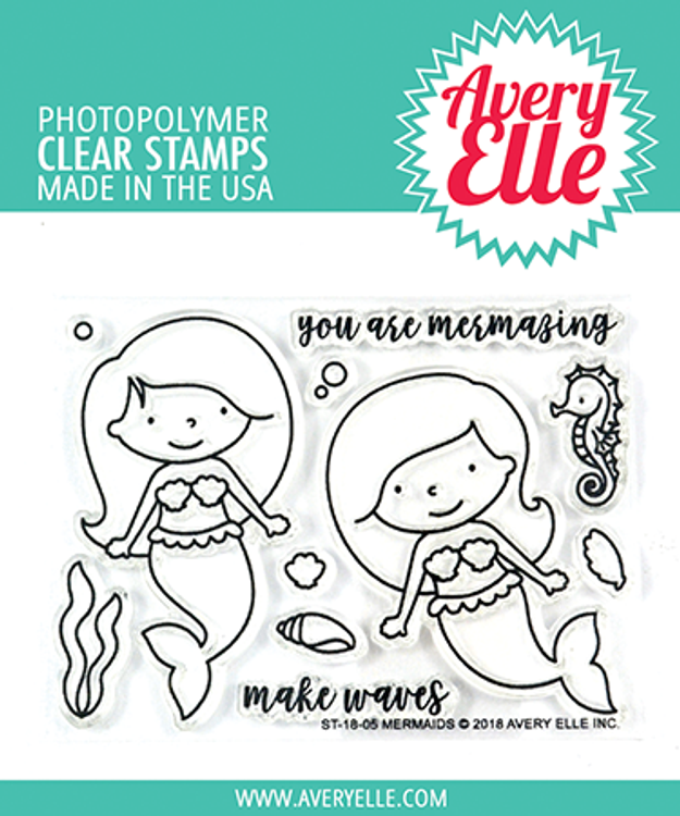 Avery Elle Mermaids Clear Stamps