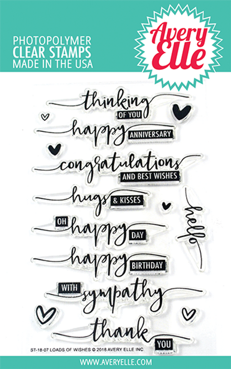Avery Elle Loads Of Wishes Clear Stamps