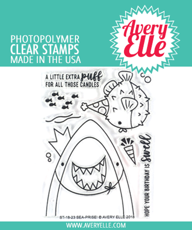 Avery Elle Sea-prise! Clear Stamps