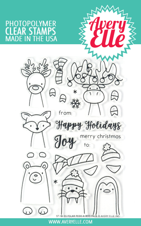 Avery Elle Polar Peek-A-Boo Pals Clear Stamps