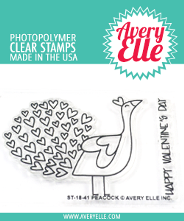 Avery Elle Peacock Clear Stamps