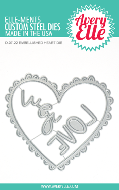 Avery Elle Embellished Heart Dies