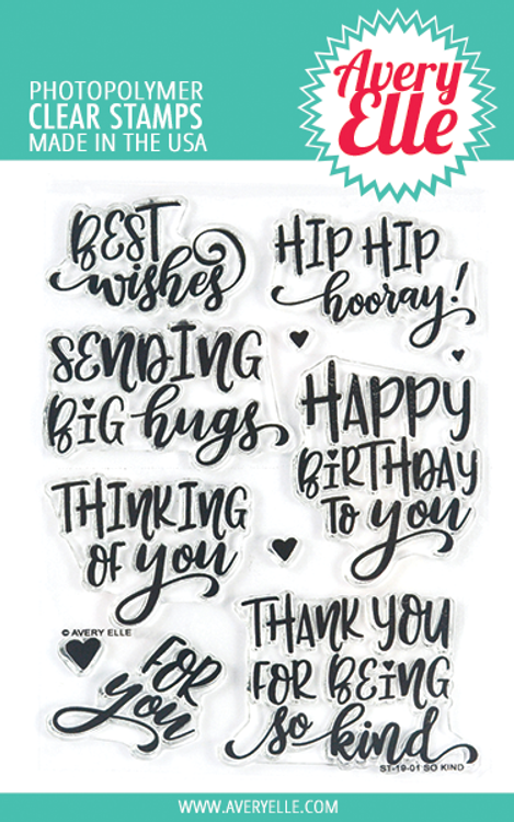 Avery Elle So Kind Clear Stamps