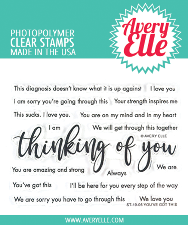 Avery Elle You've Got This Clear Stamps