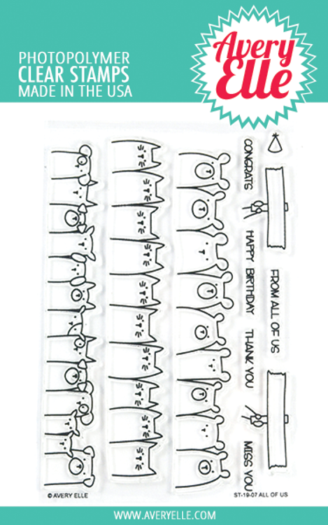 Avery Elle All Of Us Clear Stamps