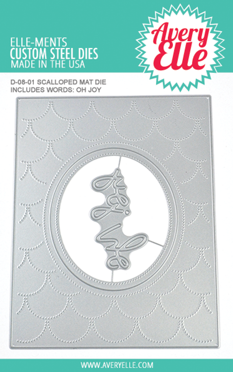 Avery Elle Scalloped Mat Dies