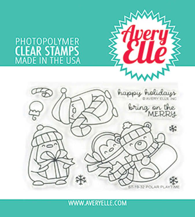 Avery Elle Polar Playtime Clear Stamps