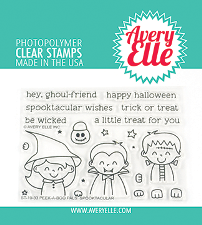 Avery Elle Peek-A-Boo Pals: Spooktacular Clear Stamps