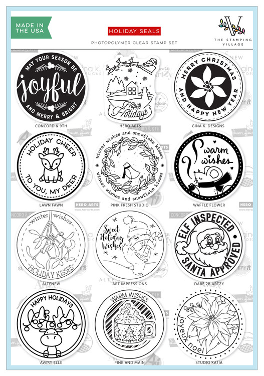 Holiday Seals Clear Stamps