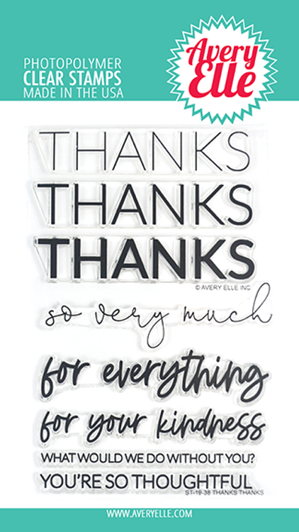 Avery Elle Thanks Thanks Clear Stamps