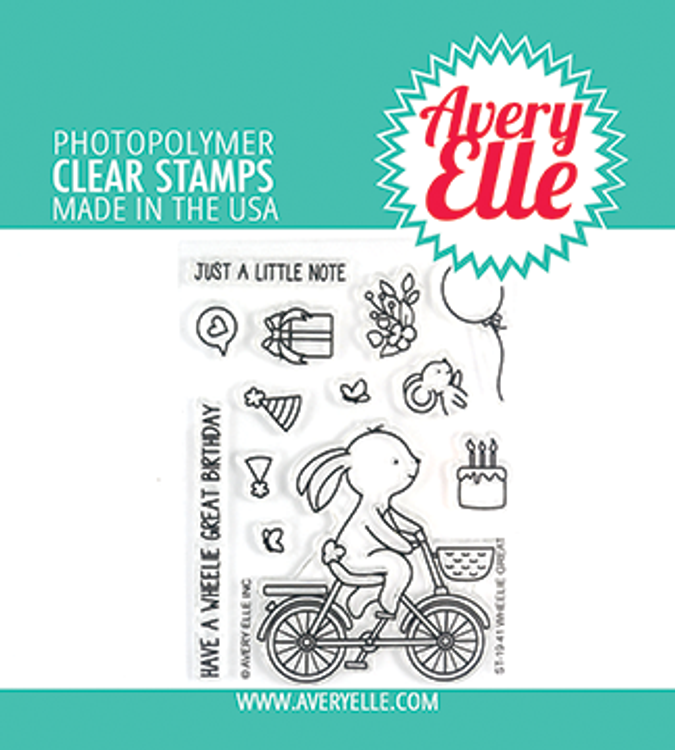 Avery Elle Wheelie Great Clear Stamps