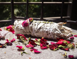 White Sage w/ Roses | Affirmation Sage Bundle