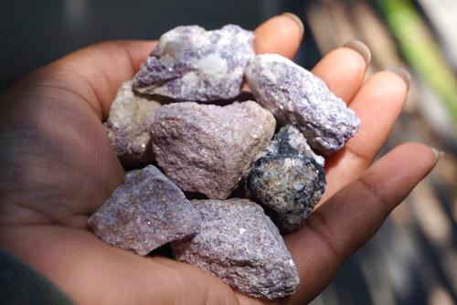 Raw Lepidolite crystals