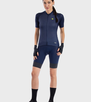 Ale Womens R-EV1 Silver Cooling Short Sleeve Jersey