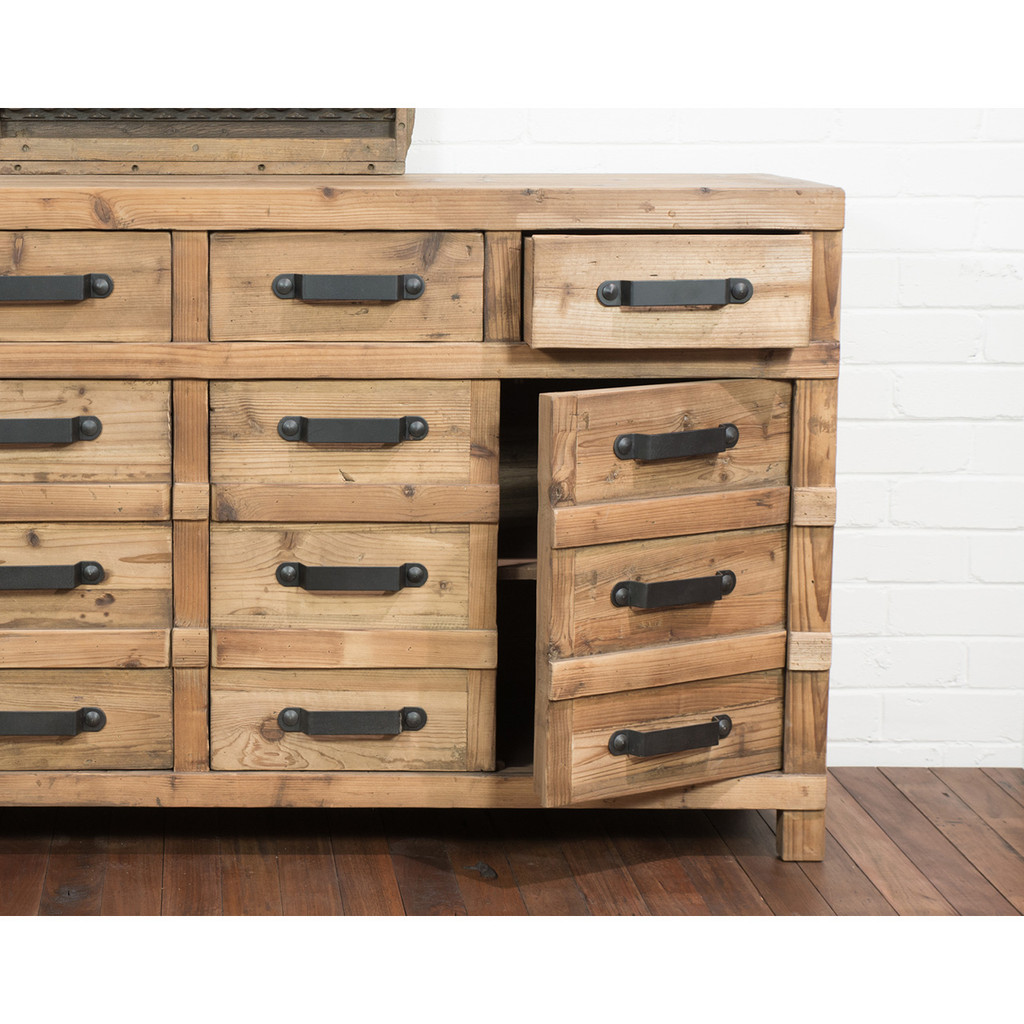SIDEBOARD 4 DRAWER 4 DOOR (F014)