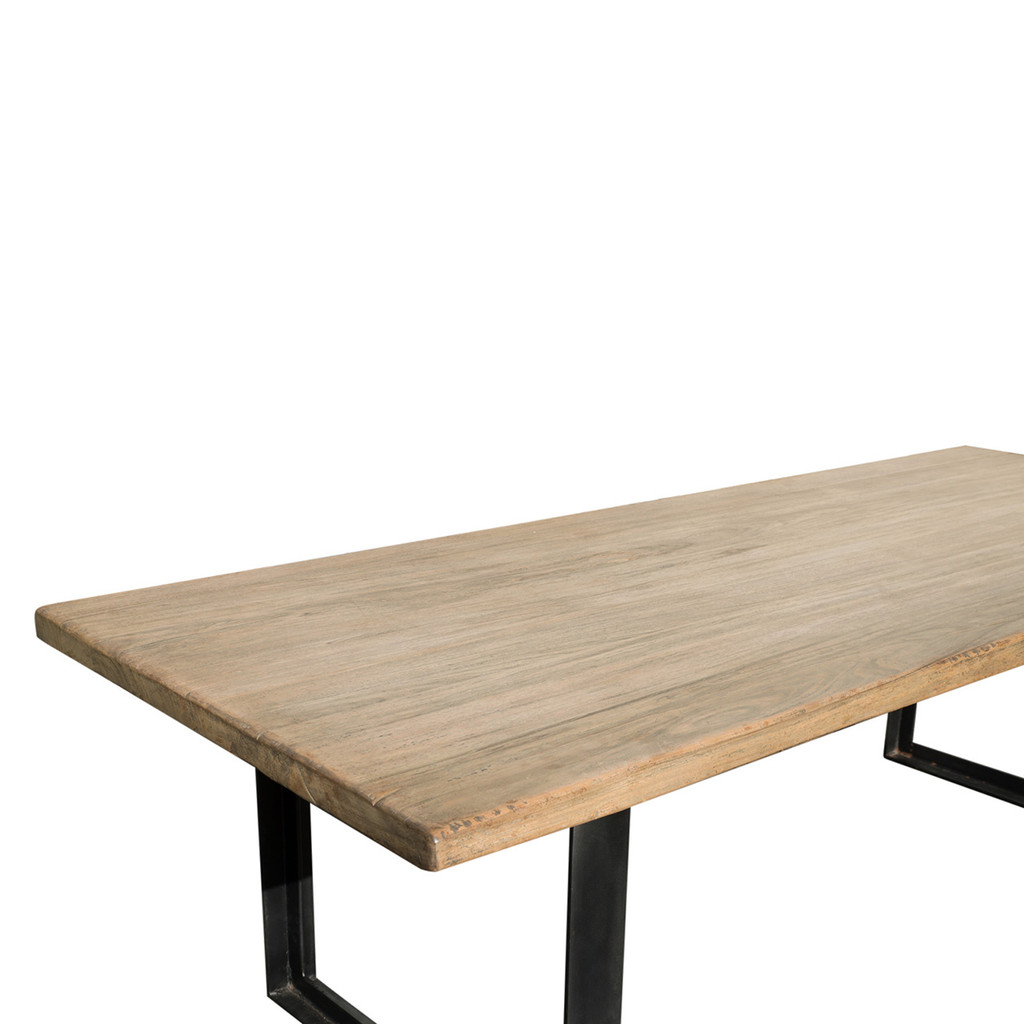 DINING TABLE INDUSTRIAL WALNUT (F097)