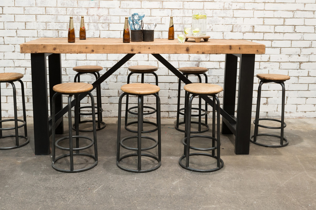 INDUSTRIAL BAR TABLE SET (F031_SET8)